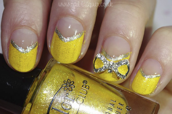 20130504-yellow nails with a bow (2)