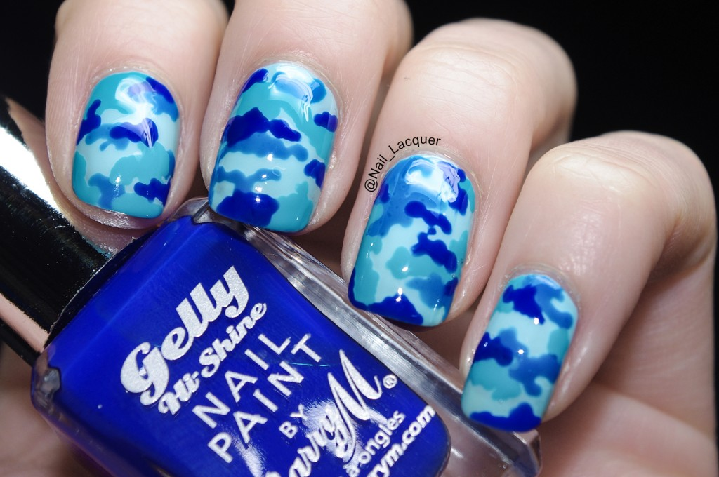 camouflage tutorial nail art image (5)