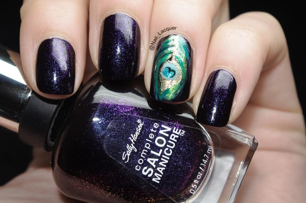 Peacock nail art (2)