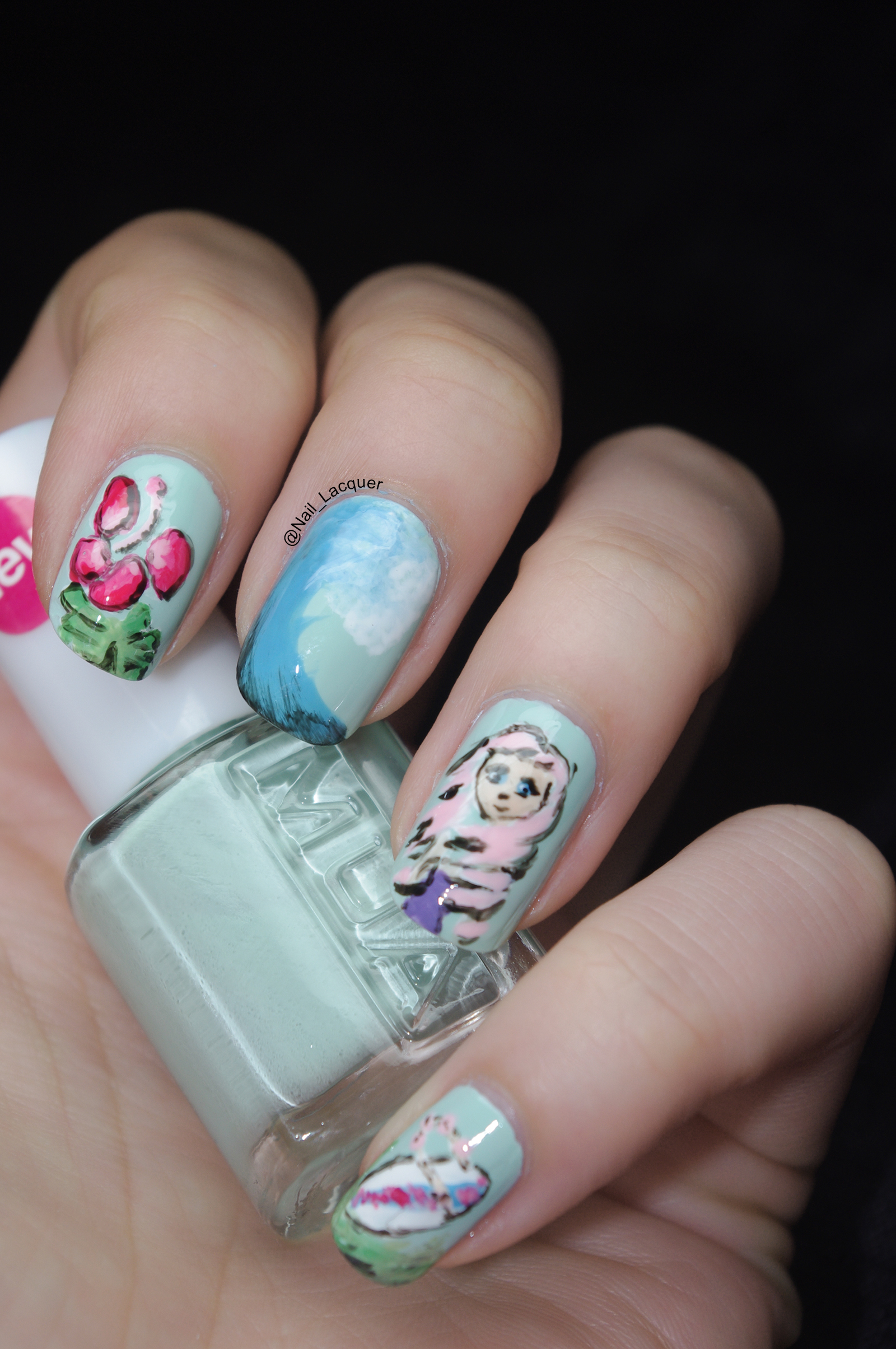 Beach themed nail art nail lacquer uk beach themed nail art 2 prinsesfo Image collections