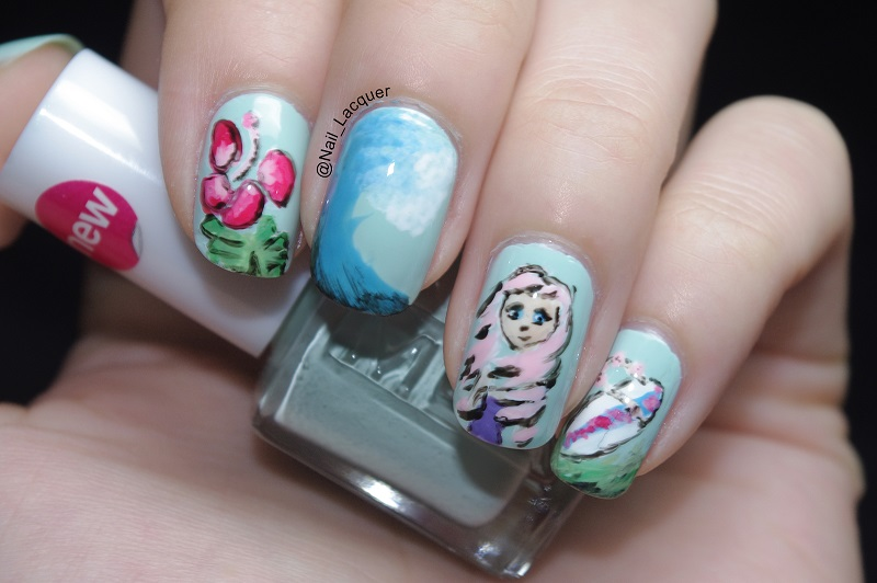 Beach themed nail designs nails gallery beach themed nail designs image prinsesfo Image collections