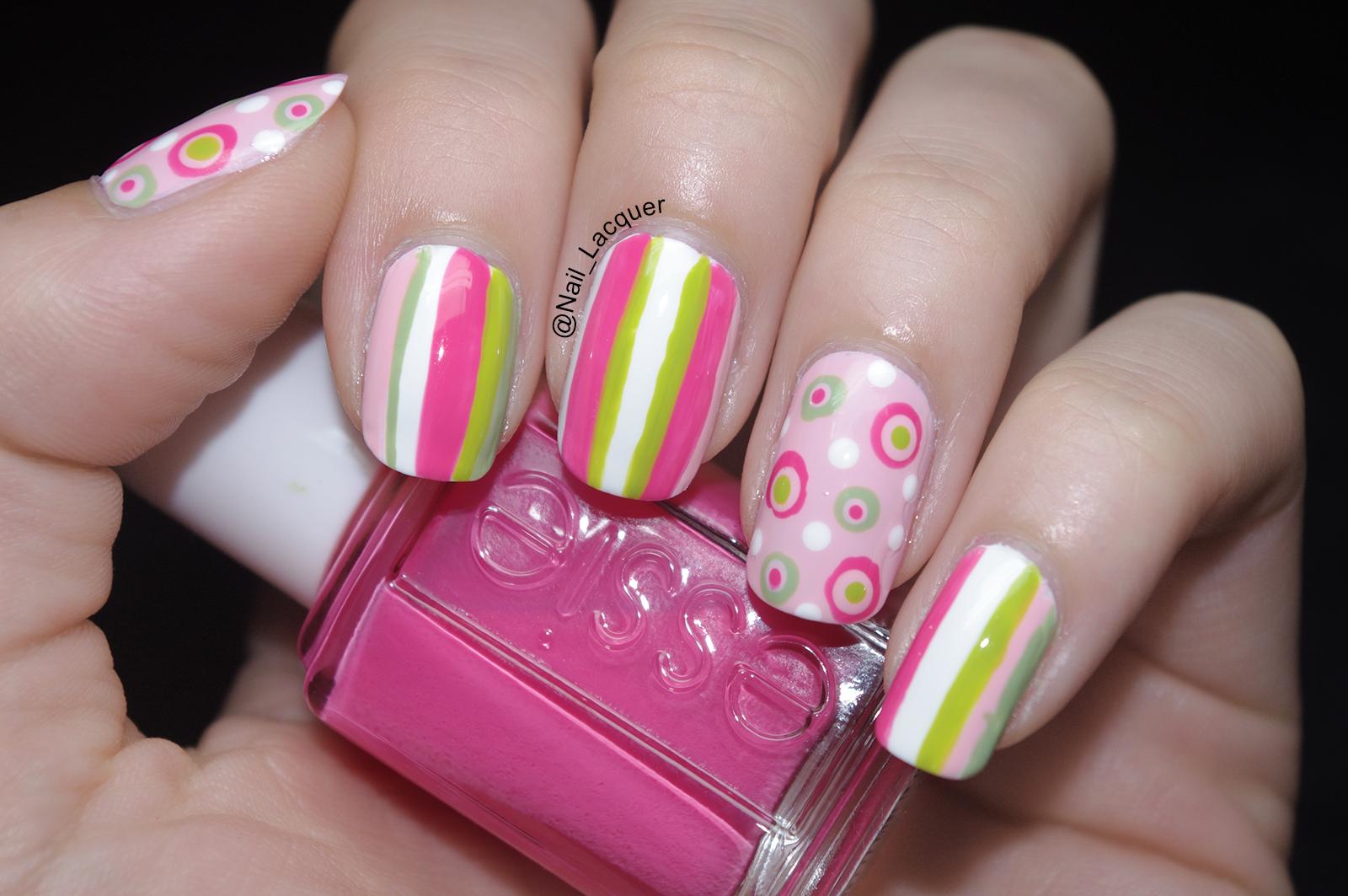 Stripes and polka dots nail art nail lacquer uk stripes and polka dots nail art 3 prinsesfo Choice Image