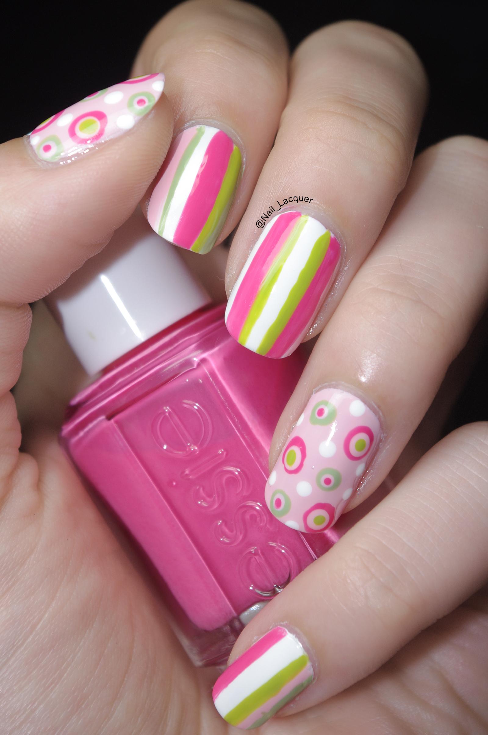 Stripes and polka dots nail art nail lacquer uk stripes and polka dots nail art 4 prinsesfo Choice Image