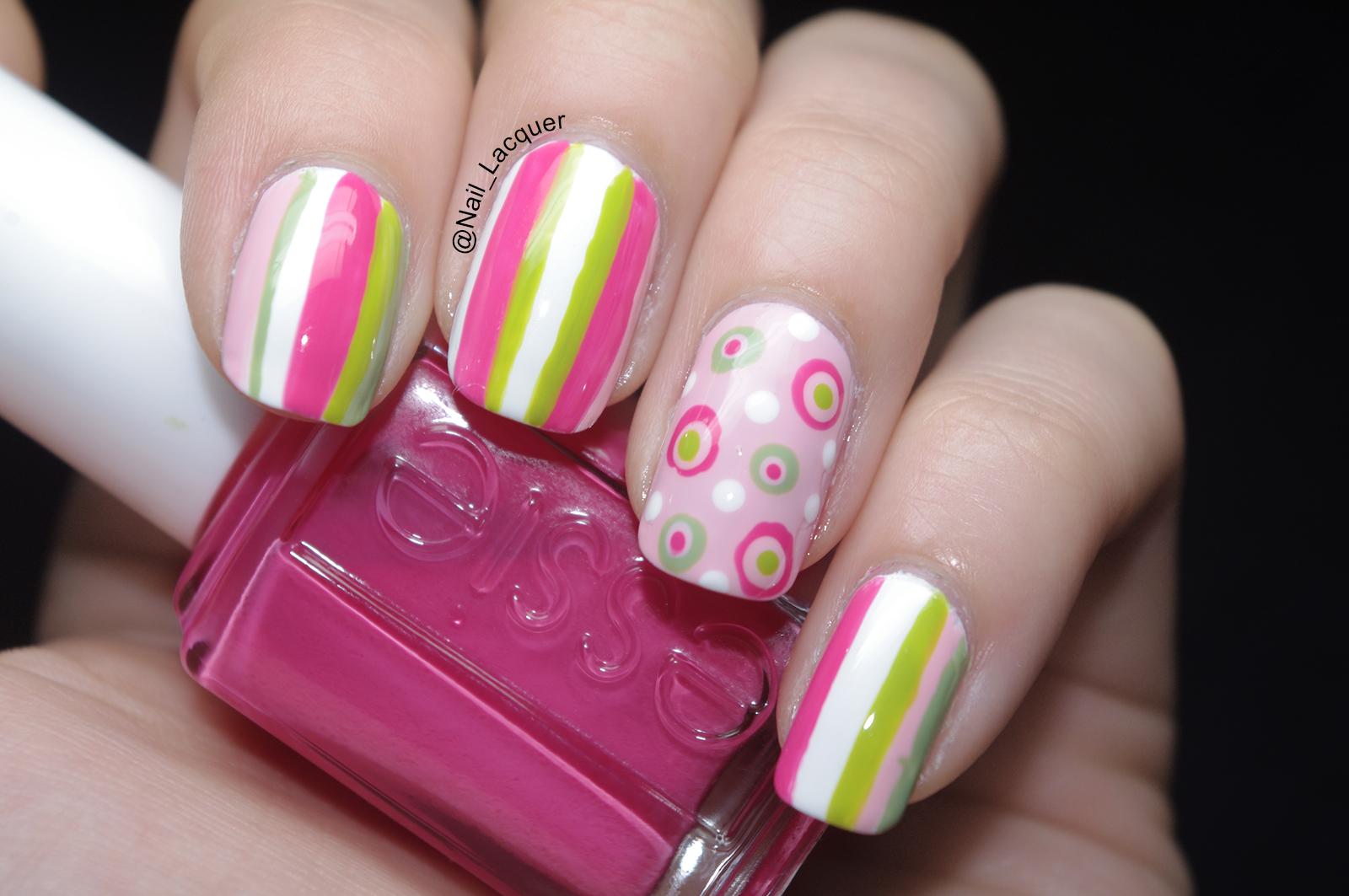 Stripes and polka dots nail art nail lacquer uk stripes and polka dots nail art 6 prinsesfo Choice Image