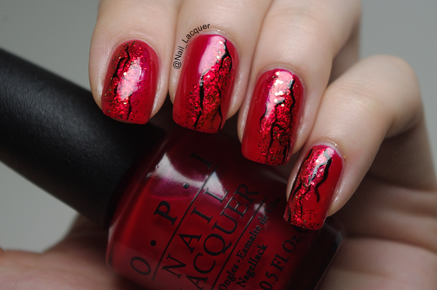 Red nail art  Nail Lacquer UK