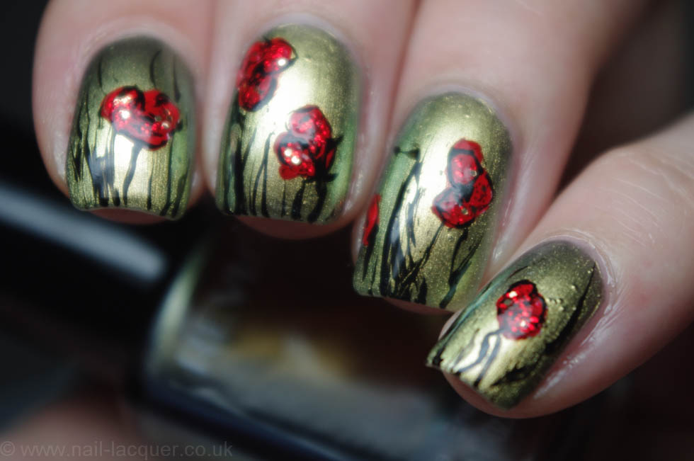 remembrance poppy nail art (3)