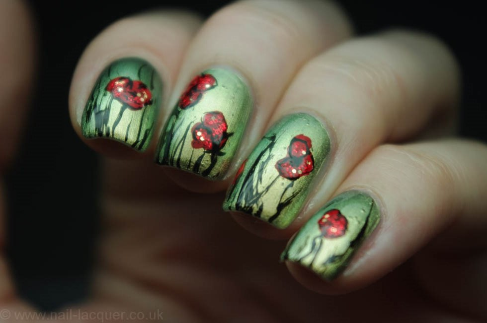 remembrance poppy nail art (4)