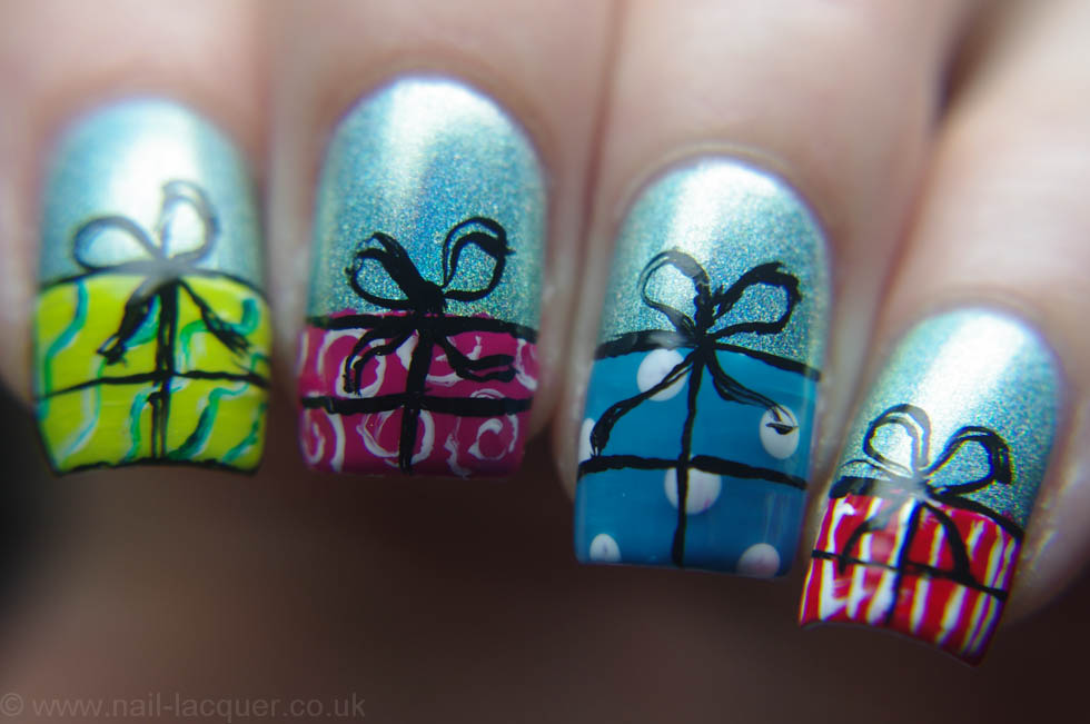 christmas-presents-nail-art (12)