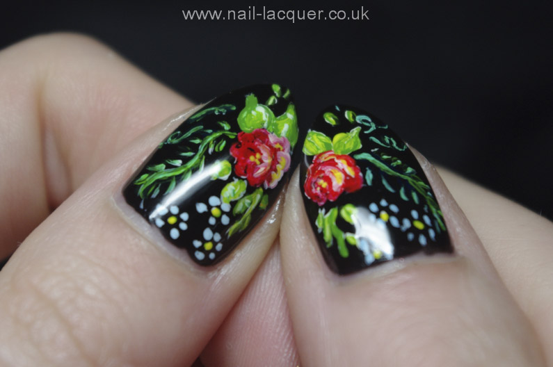 Russian-flowers-nail-art (10)